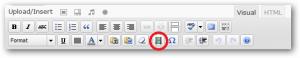 Wordpress Kitchen Sink edit toolbar insert embedded media
