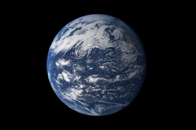 Earth as a blue marble