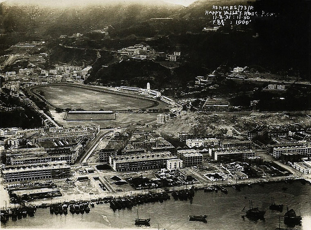 1931 aerial view of Happy Valley