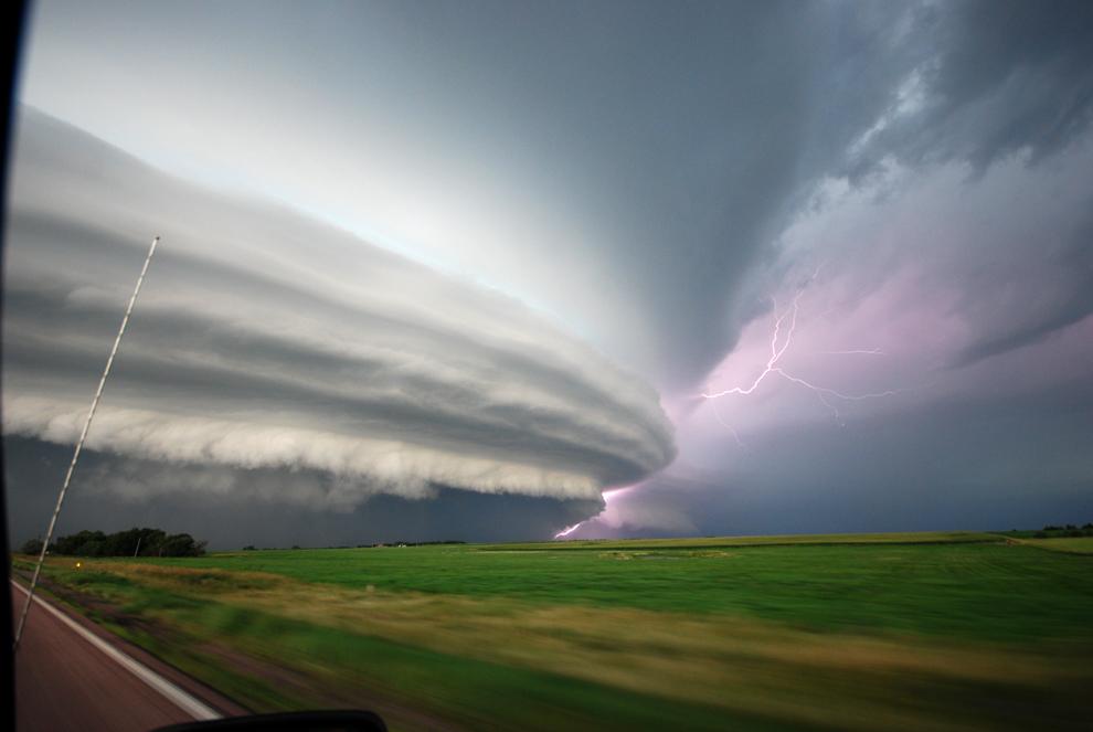 8-inch hailstone storm