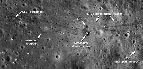 Footsteps on the moon