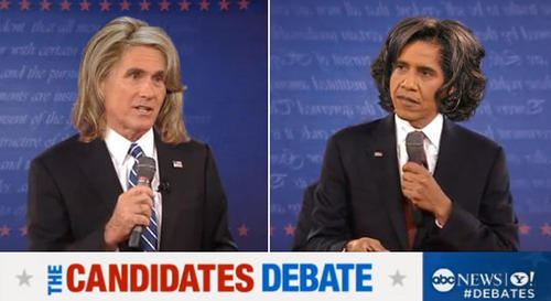 Candidate wife hair swap