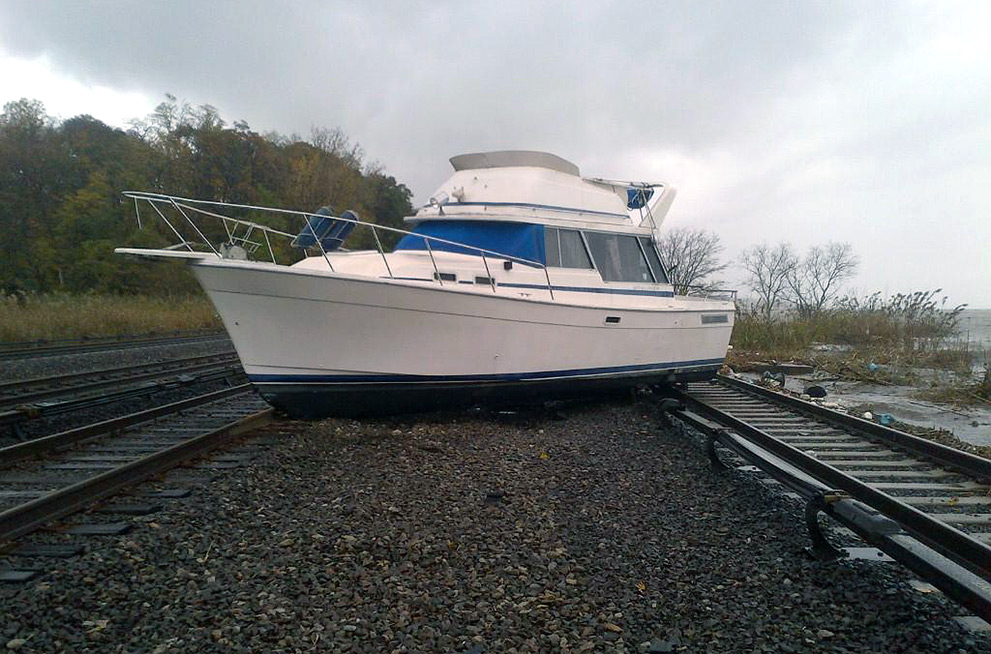 Boat on tracks
