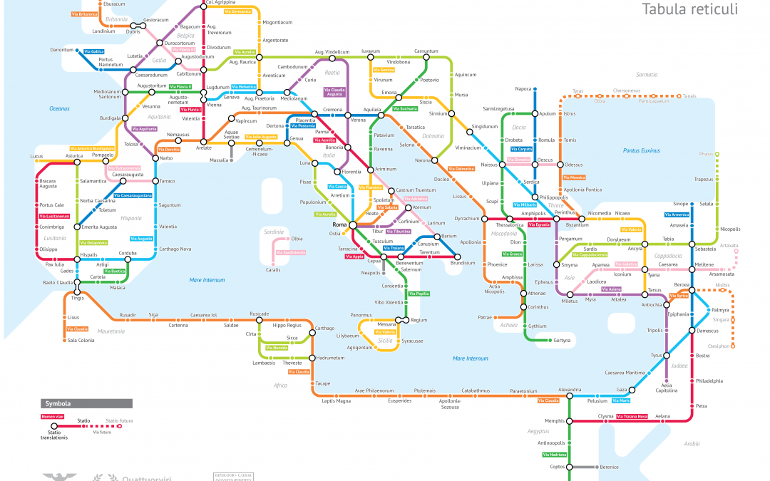 The Roman road tube map